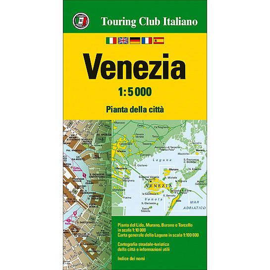 Cartina Turistica Di Venezia.Venezia 1 5000 Carte E Piante Di Citta H2846a Touring Editore