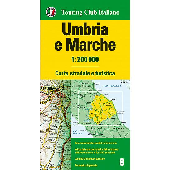Cartina Stradale Marche Umbria.Umbria E Marche 1 200 000 Carte Regionali 1 200 000 H3019a Touring Editore