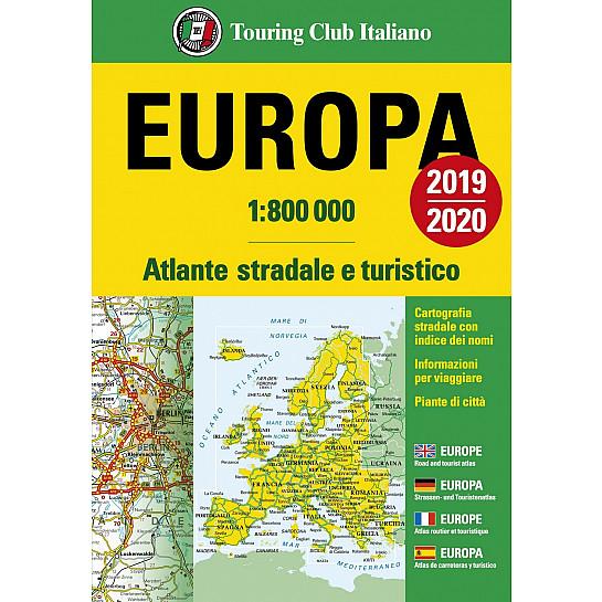 Cartina Stradale D Europa.Atlante Stradale D Europa 1 800 000