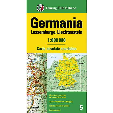 Germania Lussemburgo Liechtenstein 1:800 000