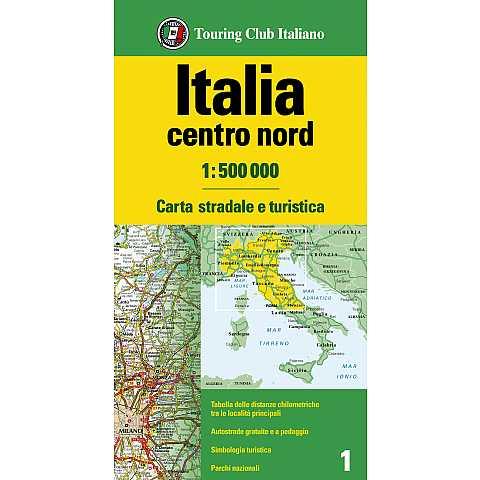 Cartina Stradale Italia Centro Nord.Italia Centro Sud 1 500 000 Carta Stradale D Italia 1 500 000 H3338a Touring Editore
