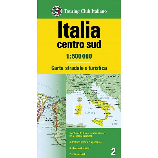 Cartina Stradale Italia Centro Sud.Italia Centro Sud 1 500 000 Carta Stradale D Italia 1 500 000 H3338a Touring Editore