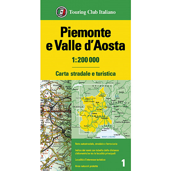 Piemonte Cartina Stradale.Piemonte E Valle D Aosta 1 200 000 Carte Regionali 1 200 000 H3362a Touring Editore