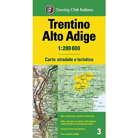 Cartina Stradale Del Trentino Alto Adige.Emilia Romagna 1 200 000 Carte Regionali 1 200 000 H2456a Touring Editore