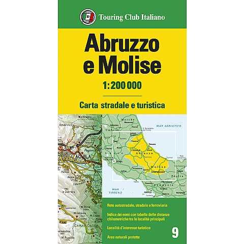 Cartina Stradale Abruzzo Molise.Emilia Romagna 1 200 000 Carte Regionali 1 200 000 H2456a Touring Editore